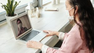 working virtually from home due to COVID-19